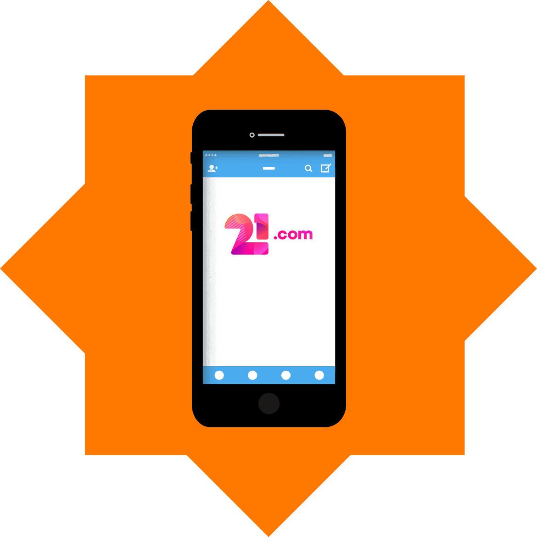21com Casino - Mobile friendly