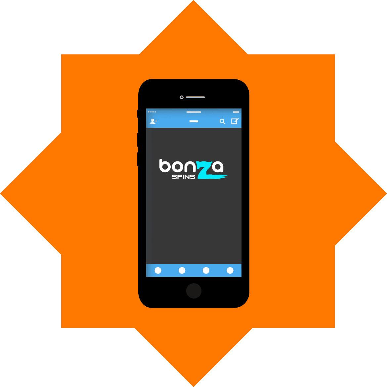 Bonza Spins Casino - Mobile friendly
