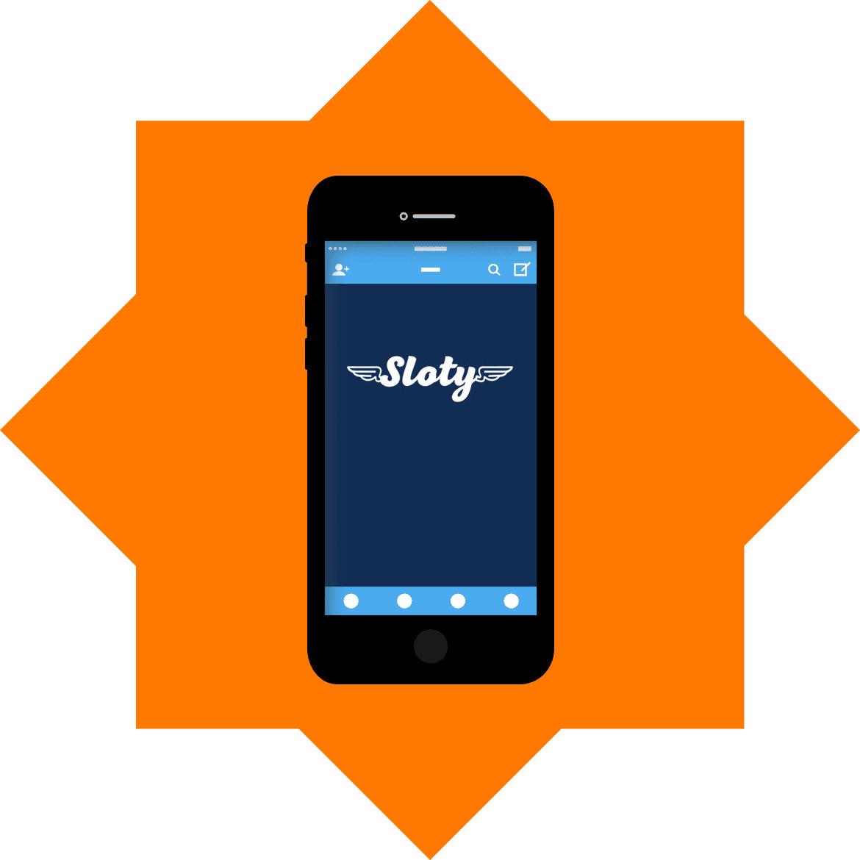 Sloty Casino - Mobile friendly