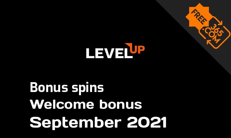 Bonus spins from LevelUp September 2021, 100 spins
