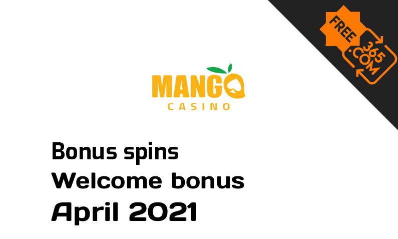Bonus spins from Mango Casino April 2021, 200 extra bonus spins