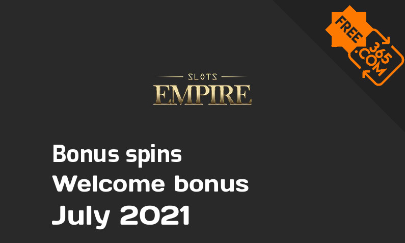 Bonus spins from Slots Empire, 100 bonus spins