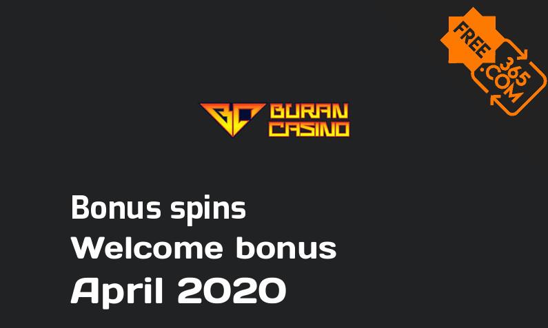 Buran Casino bonusspins April 2020, 200 spins