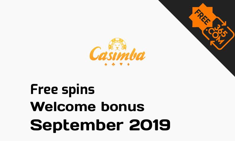 Casimba Casino free spins, 50 spins