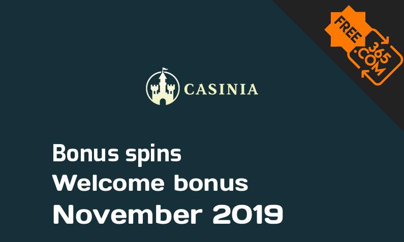 Casinia Casino bonusspins, 200 bonusspins