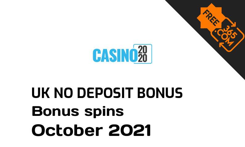 Casino 2020 bonus spins no deposit for UK players October 2021, 20 bonus spins no deposit UK
