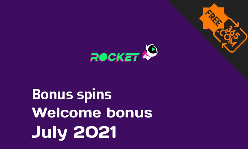 Casino Rocket bonusspins July 2021, 50 extra spins