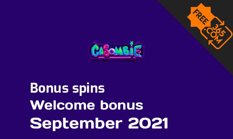 Casombie extra spins, 100 bonusspins