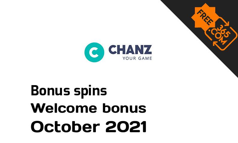 Chanz Casino extra bonus spins October 2021, 50 bonusspins
