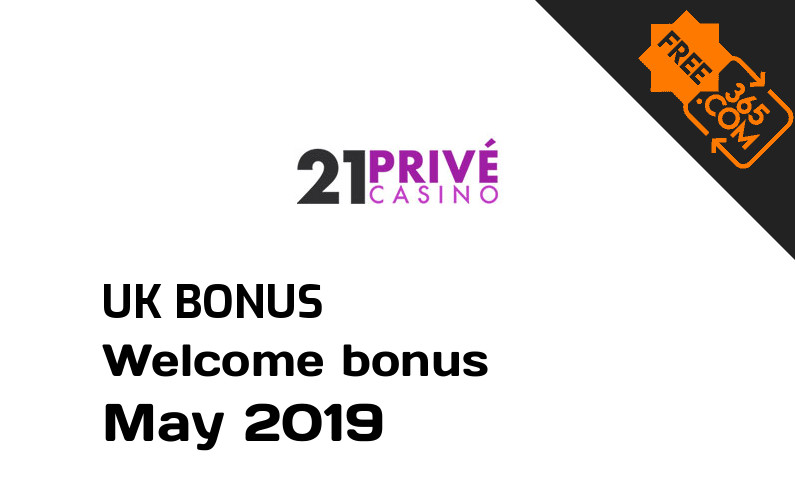 Freespin365 presents 21 Prive Casino free spin bonus for UK players, 25 free spins
