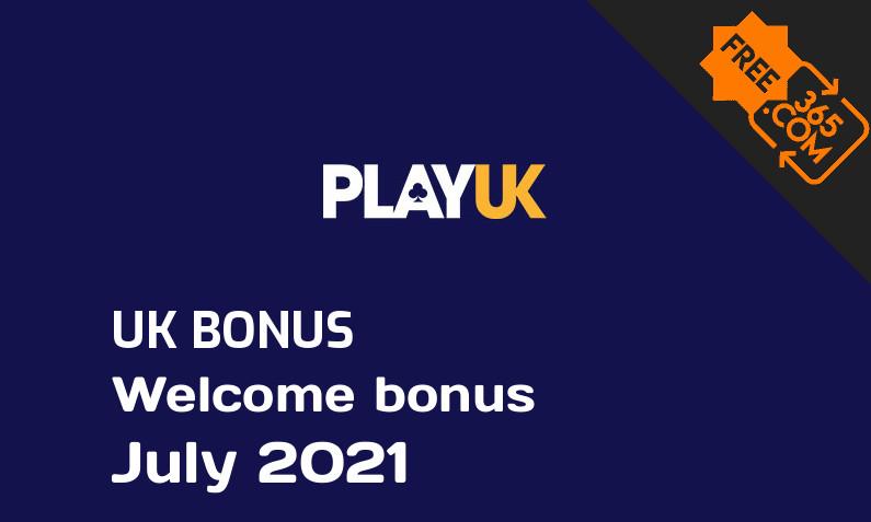 Freespin365 presents Play UK Casino extra spin bonus for UK players July 2021, 100 bonus spins