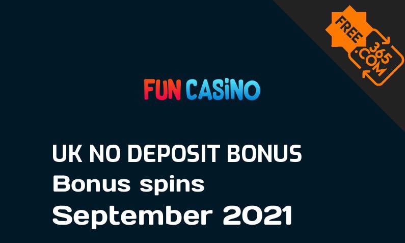Fun Casino bonus spins no deposit for UK players, 10 bonus spins no deposit UK