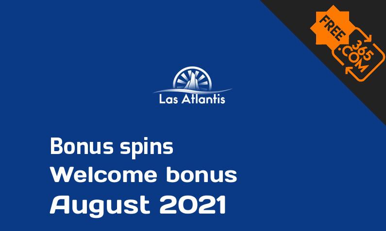 Las Atlantis bonus spins, 100 extra bonus spins