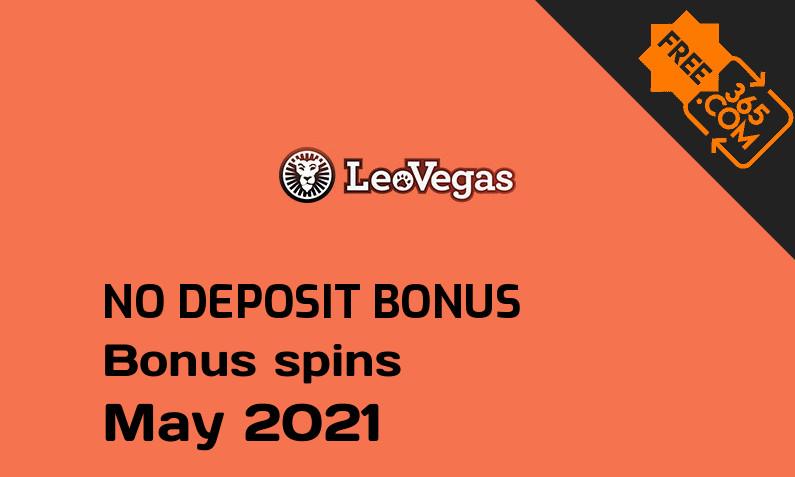 Latest LeoVegas Casino bonus spins no deposit, 20 no deposit bonus spins