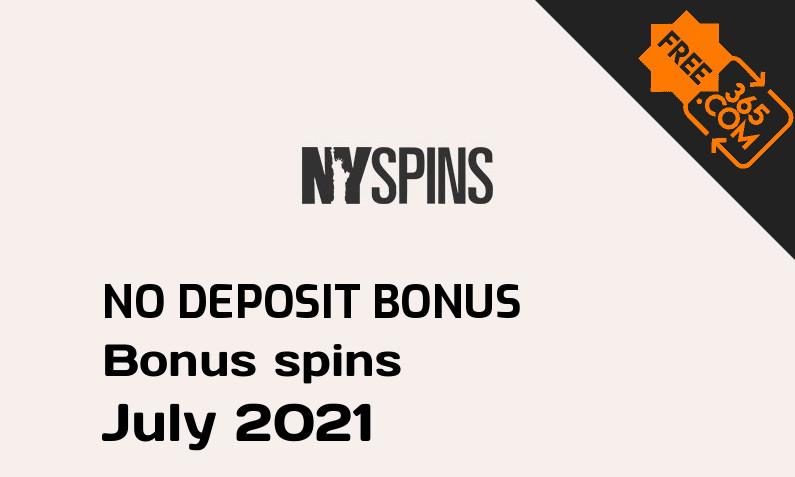 Latest no deposit bonus spins from NYSpins Casino, 50 no deposit bonus spins