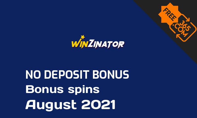 Latest no deposit bonus spins from WinZinator August 2021, 50 no deposit bonus spins