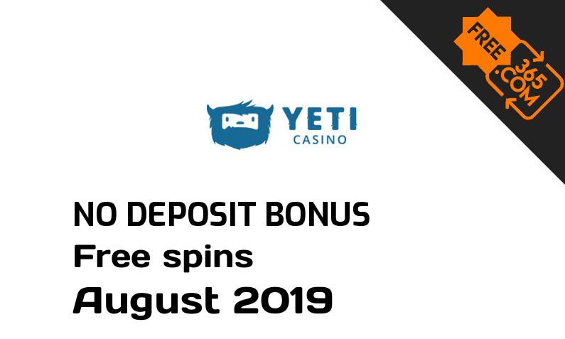 Latest Yeti Casino free spins no deposit, 23 free spins no deposit