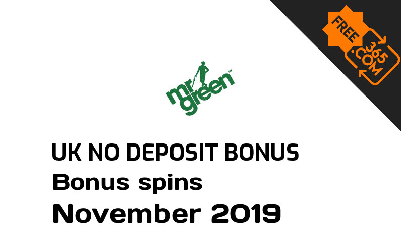 Mr Green Casino bonus spins no deposit for UK players, 25 bonus spins no deposit UK