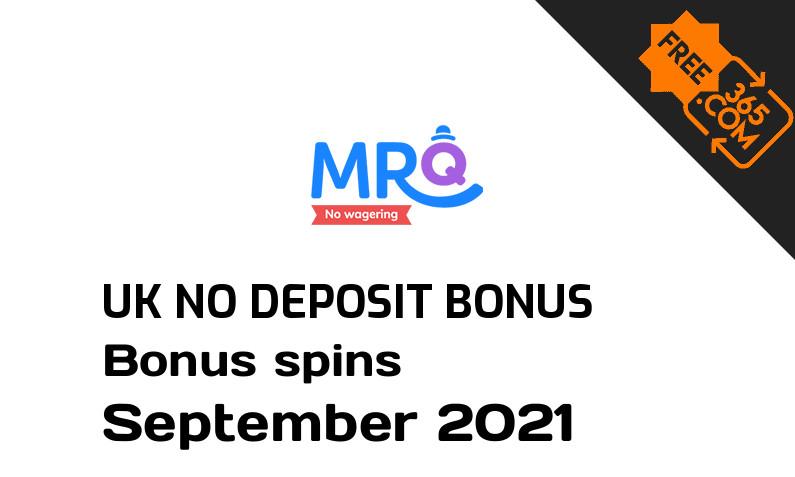 MrQ Casino UK bonus spins without deposit requirement, 10 bonus spins no deposit UK