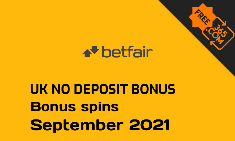 No deposit bonus spins for UK players from Betfair Casino, 30 bonus spins no deposit UK