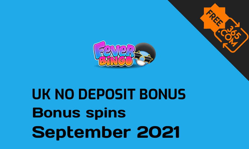 No deposit bonus spins for UK players from Fever Bingo, 20 bonus spins no deposit UK