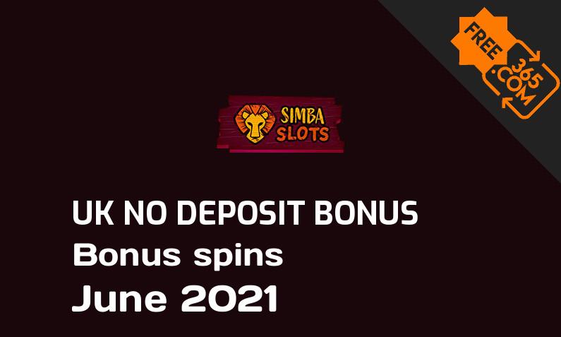 Simba Slots bonus spins no deposit for UK players, 20 bonus spins no deposit UK