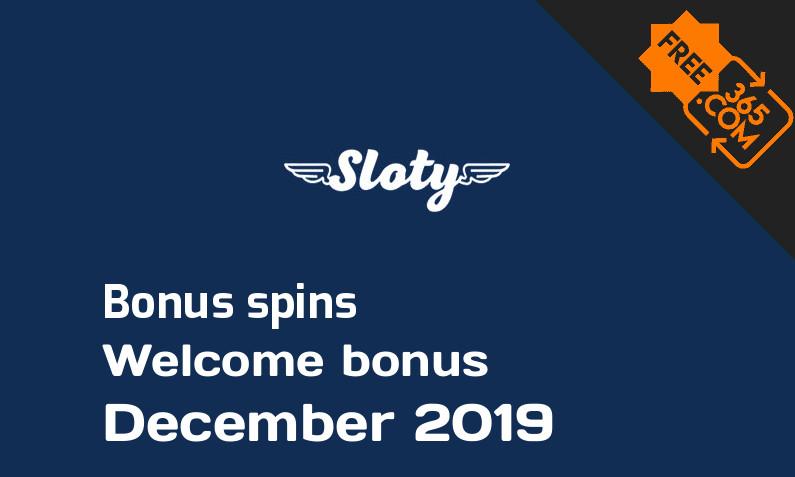 Sloty Casino bonusspins December 2019, 300 bonus spins