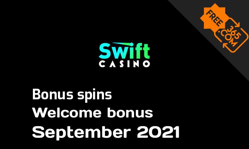 Swift Casino bonusspins September 2021, 50 extra bonus spins