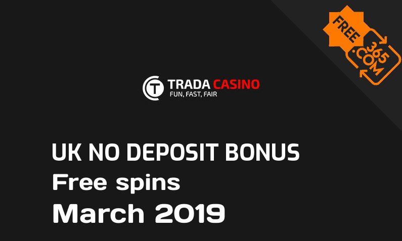Trada Casino UK bonus spins no deposit, 25 free spins no deposit UK