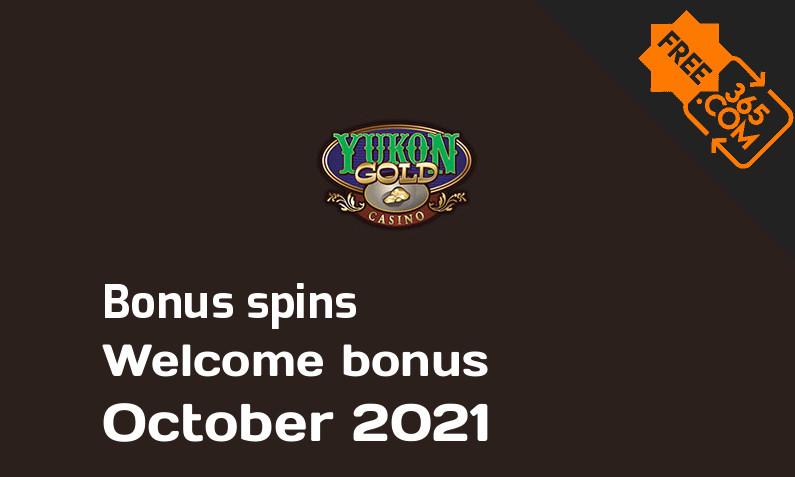 Yukon Gold Casino bonus spins October 2021, 125 extra spins
